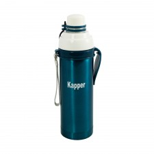 Vacuum Sport Bottle with Hook 500ML - Blue