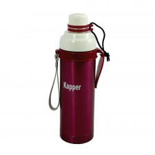 Vacuum Sport Bottle with Hook 500ML - Red
