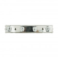 Stainless Steel Wall Mount 4-Hook Rack [A1-S]