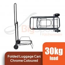 Folded Luggage Cart Chrome Coloured [BMC-06]