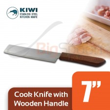 KIWI Cook Knife With Wooden Handle 7 inch No.172 - 100% Thailand Original