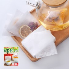 KYOWA Japanese Soup and Tea Filter Disposable Bag with Zipper Size Large 12 x 9.5cm 32-PCS Set ?