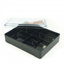 Japanese Bento Box 5 Compartments with Transparent Lid 1026A - 270 x 212 x 65mm
