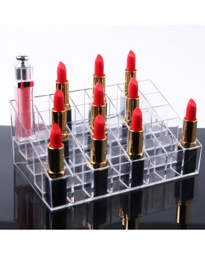 40-Slot Clear Acrylic Lipstick Display Holder Stand Cosmetic Organizer Rack Storage Make Up Box Case Container