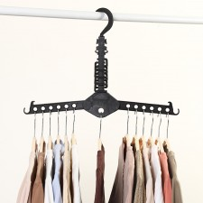13-Slot Multipurpose Foldable Magic Clothes Hanger Shirts Storage Organizer Space Saver