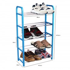 Simplify 5-Tier Shoes Rack Organizer Shoe Storage Space Saver (Blue)
