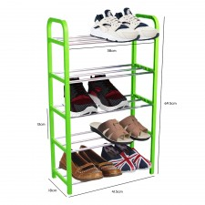 Simplify 5-Tier Shoes Rack Organizer Shoe Storage Space Saver (Green)