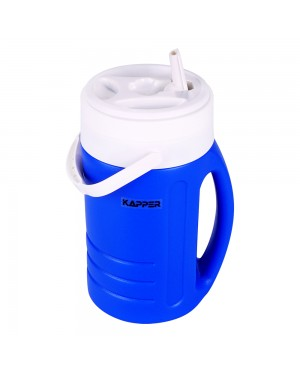 KAPPER Ice Water Cold Beverage Portable Thermos Drinking Bottle for Outdoor Camping Sports 2L (Blue)