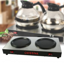 CAFERINA Coffee Warmer Dual Electric Hot Plate 176W Kitchen Appliances for Home Hotel Restaurant Model THP