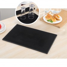 BIGSPOON Professional Rectangle Rubber Bar Service Spill Mat 45x30cm Black Water Proof Drip Mats Kitchen Glass Coaster Placemats
