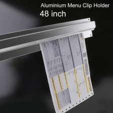 BIGSPOON Aluminium Menu Receipt Clip Check Holder 48 inch 120cm Ticket Bill Hanger Slide Hanging Rack for Restaurant Bar Kitchen