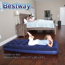 BESTWAY 73 inch 185cm Premium Portable Inflatable Single Air Bed Mattress Model 67000