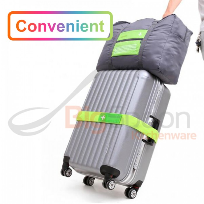 23fe6398a5 BIGSPOON Foldable Travel Duffel Bag Water Resistant Lightweight Nylon Folding  Cabin Carry-On Luggage