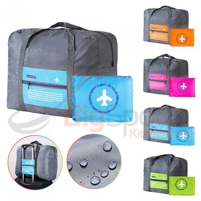 BIGSPOON Foldable Travel Duffel Bag Water Resistant Lightweight Nylon Folding  Cabin Carry-On Luggage d7c489bc21273