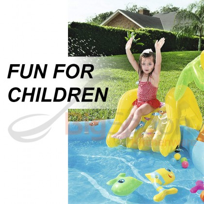 BESTWAY Sea Life Play Center with Slide Water Sprayer Inflatable Pool Model 53067