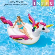 INTEX 287cm Mega Unicorn Island Ride-On Inflatable Float Model 57281