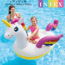INTEX 201cm Unicorn Ride-On Inflatable Float Model 57561