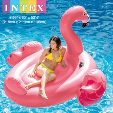 INTEX 218cm Mega Flamingo Island Ride-On Inflatable Float Model 56288