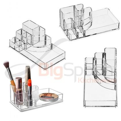 BIGSPOON 2-Drawer Mini Cosmetic Organiser Makeup Organizer Drawer Cosmetic Storage Box Lipstick Holder Make Up Organiser Makeup Drawer Organizer Jewellery Storage Box Lipstick Case Makeup Rack for Makeup Brushes and Sets Eyeshadow Moisturizers Nail Polish