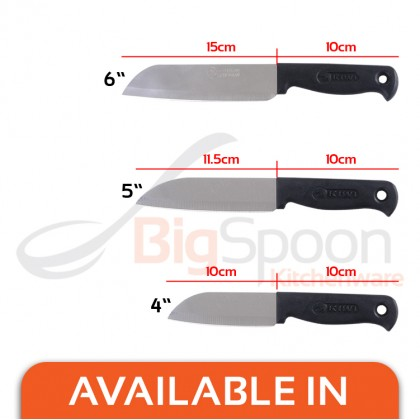 THAILAND 5 inch KIWI Cook Knife Durable Chef Knife Stainless Steel Blade with Slip-resistant Plastic Handle [475]