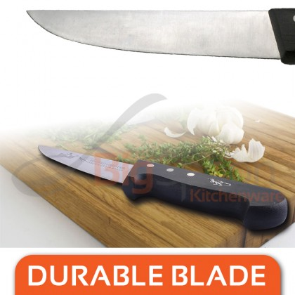 HOMCHEF Butcher Knife 6 inch Stainless Steel 2.5mm Thick Durable Blade Pisau Sembelih BK-216