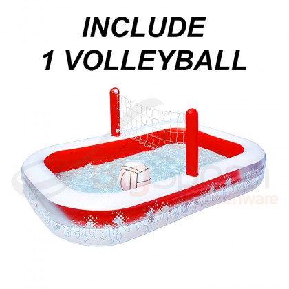 BESTWAY 54125 2.51m Inflatable Swimming Play Pool Volleyball Inflate-A-Volley Pool Kolam Mainan Bola Baling for Outdoor Kids Children Kanak-kanak Budak FREE Electric Air Pump Repair Patch