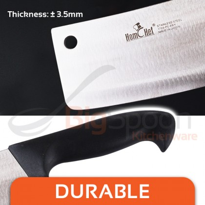HOMCHEF 7 Inch Bone Chopper Cleaver Chinese Meat Cleaver Knife with Plastic Handle Made in Japan