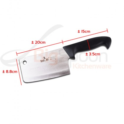 HOMCHEF 8 Inch Bone Chopper Cleaver Chinese Meat Cleaver Knife with Plastic Handle Made in Japan