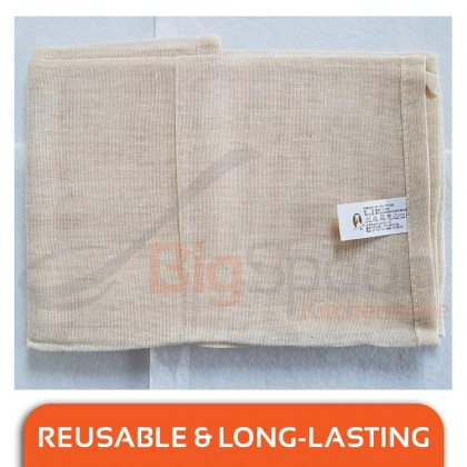 BIGSPOON 100% Natural Pure Cotton Steamer Cloth 86cm x 65cm Large Strainer Towel Reusable Food Safe Mesh Kitchen Clothes Multipurpose Filter Net Anti-Leakage Cheesecloth for Steaming Food Cooking Made in TAIWAN BJ-2596