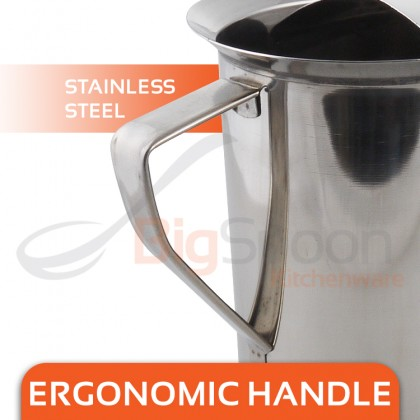 BIGSPOON 64oz/80oz Stainless Steel Water Pitcher Jug with Ice Guard Rust-Resistant Carafe Beverage Dispenser Coffee Pot Tea Kettle Cold Juice Iced Drinking Water