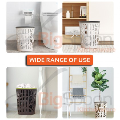 BIGSPOON DESIGNER GB00059 Waste Bin Dustbin for Room Small Trash Bin Kitchen Wastebasket Garbage Can Rubbish Tong Bakul Sampah Office Bathroom Toilet