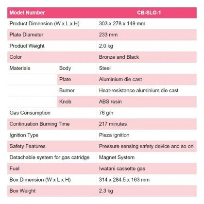 [ORIGINAL] IWATANI CB-SLG-1 Yakimaru Portable Smokeless Grill Yakiniku BBQ Stove Outdoor Butane Gas Stove Tungku Dapur Gas Mini Panggang for Home Gathering Camping Picnic