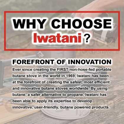 [ORIGINAL] IWATANI CB-250-OR Cassette Gas Butane Gas Cartridge Refill Canister for Portable Stove Torch Lighter Camping Outdoor Picnic