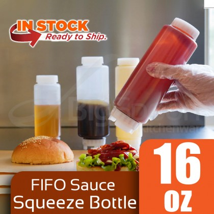 BIGSPOON Dual-Way FIFO Refillable Squeeze Bottle 双头胶汁樽 16oz / 20oz