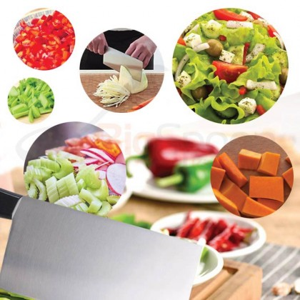 BIGSPOON 7 inch Bone Chopping Knife Stainless Steel Chinese Cleaver with Plastic Handle Heavy Meat Chopper 不锈钢切肉刀砍骨刀