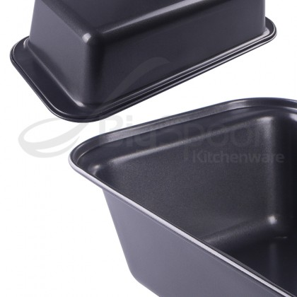 8 INCH NON-STICK LOAF PAN TOASTER PAN BAKEWARE RECTANGULAR CARBON STEEL BREAD BAKING MOULD MOLD BAKING TOOLS ACCESSORIES WITH EASY GRIP HANDLE