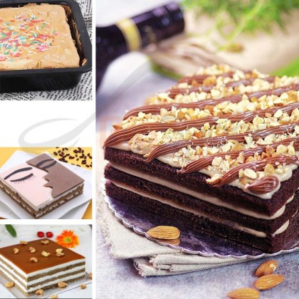 8 Inch Non-Stick Square Cake Pan Carbon Steel Baking Mould Bakeware Deep Pizza Pan Pastry Mould