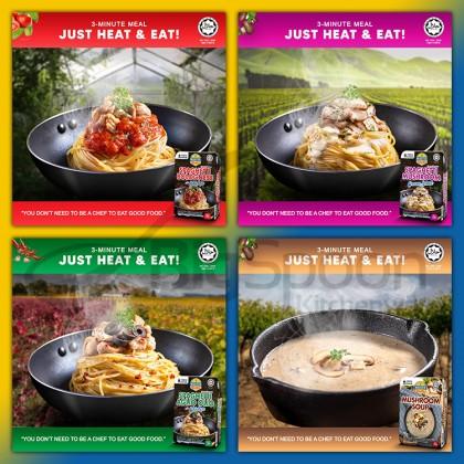 [HALAL] MASTER PASTO Instant Mushroom Soup / Spaghetti Aglio Olio / Bolognese Chicken / Mushroom Cream Sauce / Noodle Pasta Sauce / Tomato Coulis / Garlic Black Pepper / Carbonara / Sambal Paste / Ready Meal Food To Eat Sup Mee Segera 即食蘑菇汤意大利面酱料