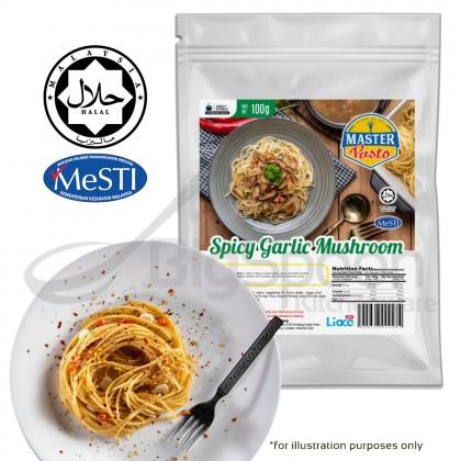 [HALAL] Master Pasto - Spicy Garlic Mushroom Sauce Value Pack 100g 即煮意式香辣蒜茸蘑菇白酱超值装 Sos Cendawan Bawang Putih Pedas Berkrim Pek Nilai
