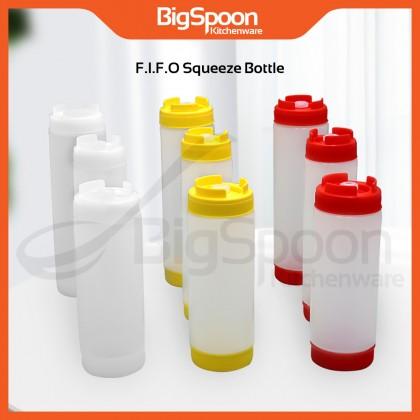 BIGSPOON FIFO Squeeze Bottle / Plastic Refillable Sauce Squirt Bottle / Botol Sos Subway Plastik / For Food Burger / 16oz/20oz/24oz